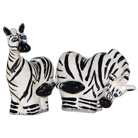 Westland Giftware Ark Safari Zebras Salt and Pepper Shaker Set