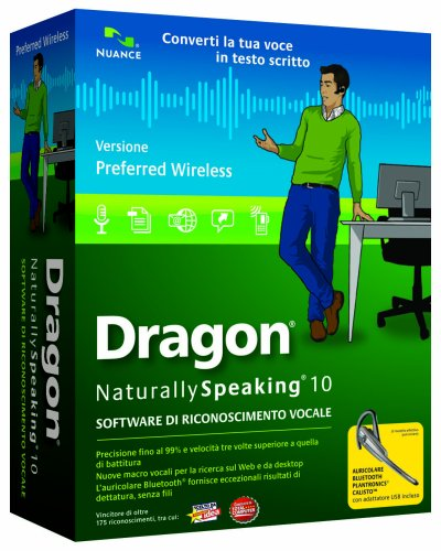 Dragon NaturallySpeaking Preferred 10.0 - Italian - Wireless (PC CD)