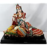 Paras Magic Marble Radha Krishna RK7 Idol (Standard,Multicolor)