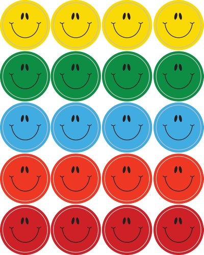 Carson Dellosa Smiley Faces, Multicolor Shape Stickers (5270)