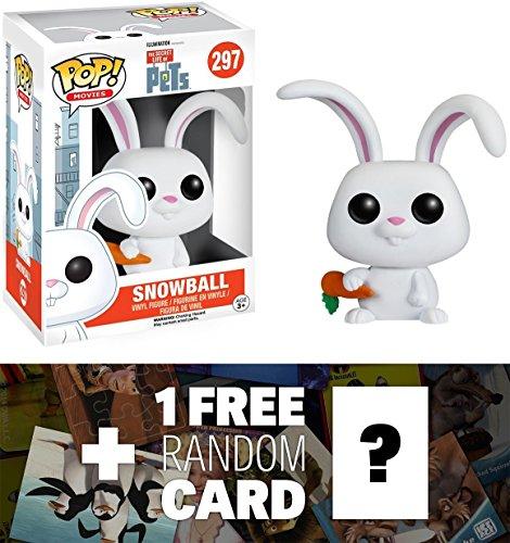 Snowball: Funko POP! x The Secret Life of Pets Vinyl Figure + 1 FREE CG Animation Themed Trading Card Bundle (089139)
