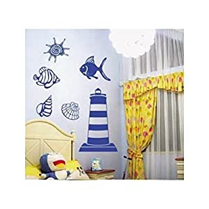Walplus adesivi da parete per bambini con motivo a faro for Adesivi da parete per cucina