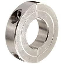 Climax Metal Two-Piece Clamping Shaft Collar, Stainless Steel 303