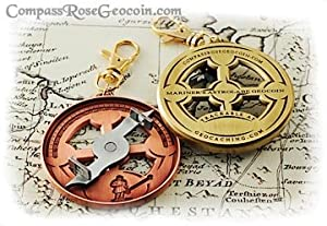 Astrolabe Geocoin - Antique Bronze