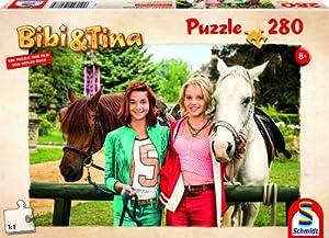 Schmidt 56087 - Bibi und Tina, Freundinnen für immer, Puzzle zum Film, 280 Teile