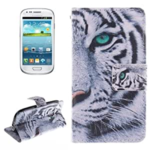 Crazy4Gadget Tiger Pattern Horizontal Flip Leather Case with Holder & Card Slots & Wallet for Samsung Galaxy S III mini / i8190