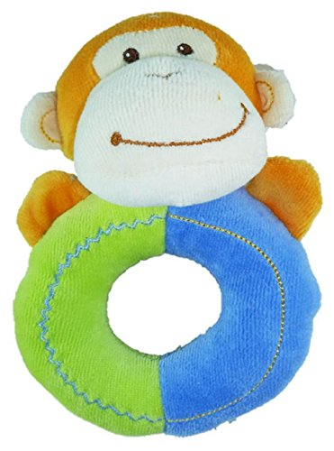 Mary Meyer Earthmates 100% Organic Cotton Baby Ring Rattle (Monkey) - 1