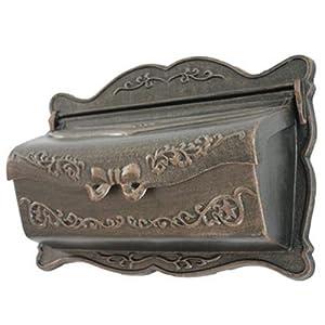 NACH Bowtie Design Aluminum Mailbox with Newspaper Holder, Copper