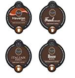 16 Count - Tullys Variety Vue Cups for Keurig Vue Brewers - Hawaiian Blend, French Roast, Italian Roast, House Blend