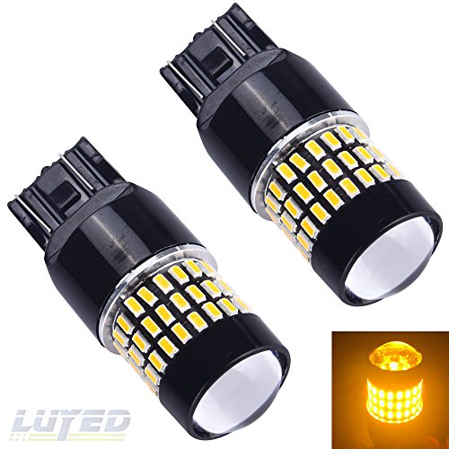 LUYED 2 X 900 Lumens Super Bright 3014 78-EX Chipsets 7440 7441 7443 7444 992 Led Bulb Used For Turn Signal,Corner Lights,Blinker Lights,Amber (Led Bulbs 7443 compare prices)