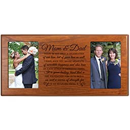 Parent Wedding Gift ,Wedding Photo Frame, Parent thank you gift,wedding picture frame gift for Bride and Groom, wedding gift for parents, Mom and Dad thank-you gift\