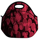 Snoogg Abstract Black Galaxy Galaxy Travel Outdoor Carry Lunch Bag Picnic Tote Box Container Zip Out Removable...