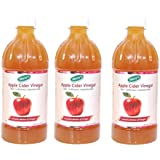 Shrey's Natural Apple Cider Vinegar With Mother Of Vinegar – 500 Ml | Raw, Unfiltered & Unpasteurized (Pack Of 3)