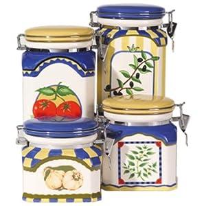 Bulk food storage for Italian kitchen set