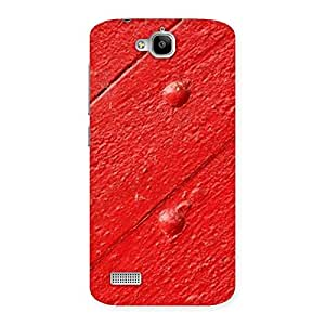 Special Red Texture Wood Print Back Case Cover for Honor Holly