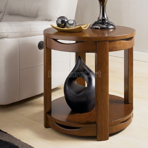 Cheap Contemporary Medium Cherry Stain End Table (T507-6)