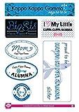 Kappa Kappa Gamma Sticker Sheet - Family Theme. 8.5