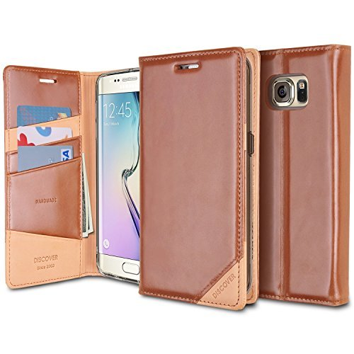 ringke-discover-case-galaxy-s6-edge-case-id-card-slotbraun-premium-handmade-real-leather-stand-funct
