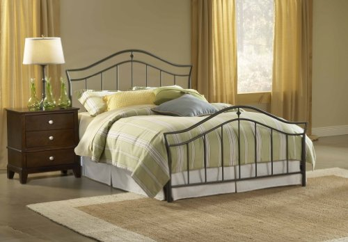 Hillsdale Furniture 1546BK Imperial Bed Set, King, Twinkle Black