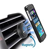 WizGear Universal Air Vent Magnetic Car Mount Holder with Fast Swift-Snap Technology for Smartphones and Mini Tablets, Black