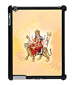 Fuson 2D Printed Lord Durga Designer Back Case Cover for Apple iPad 2 - D512