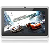 Yuntab 7 inch Tablet PC 8GB Q88 Allwinner A23 Capacitive, Google Android 4.4 ,Tablet PC with Dual core and Dual Camera Google Play Pre-loaded, External 3G ,3D-Game Supported 5 Point Multi Touch Screen White