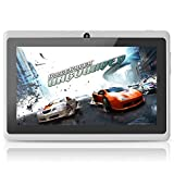 "Yuntab 7"" Q88 Allwinner A23 Capacitive Android 4.4 Tablet PC with Dual Core and Dual Camera White"