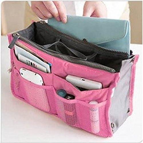 すっきり きれいに 収納 バッグ イン バッグ お出かけ 旅行 収納 アイテム などに (ピンク)