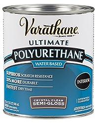 Rust-Oleum Varathane Water-Based Polyurethane for Interior Furniture & Wood Polish, 946 ml, SEMI GLOSS Finish