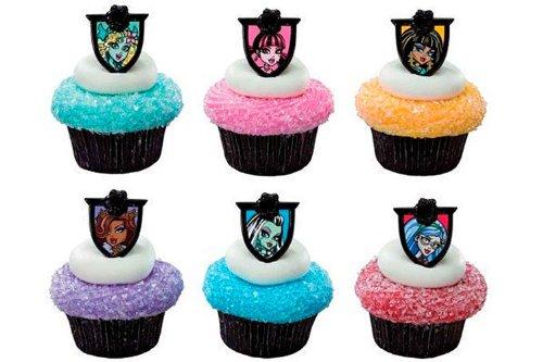 DecoPac Monster High Cupcake Topper Rings, Set of 24 - 1