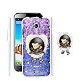 FUSON PREMIUM VALENTINE LOVE DESIGNER HARD BACK CASE COVER FOR MICROMAX A116 CANVAS HD - PURPLE COLOUR