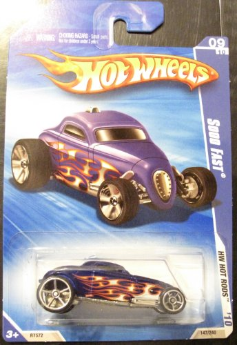 2010 Hot Wheels Sooo Fast BLUE 147/240 HW Hot Rods 9/10 - 1