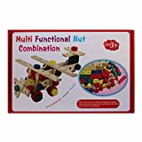 Wooden Mechanical Nut Combination For Children (3 Years+), Multi Functional Fun Smart Educational Learning Toys...