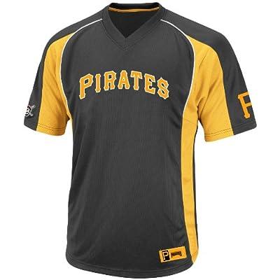 MLB Pittsburgh Pirates Men's True Winner Crew Polo, Black/Gold