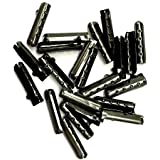 12/24/36/48 PCS Metal Aglets DIY Shoelaces Repair Shoe Lace Tips Replacement End (24PCS, Ebony)