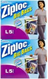 Ziploc Big Bags, Large, 3 gallon, 15x15 in., 40 ct (8/5s)