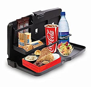 Zone Tech Black Car Food Drink Meal Snack Tray