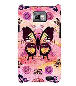 Printvisa Assorted Butterfly Pattern Back Case Cover for Samsung Galaxy S2::Samsung Galaxy S2 i9100