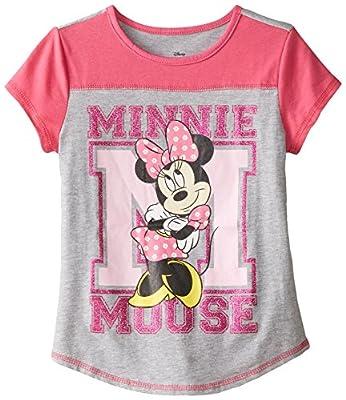 Disney Girls' Minnie Mouse Baseball T-Shirt