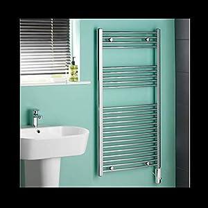 Hudson reed radiatore termosifone scaldasalviette elettrico termostatico acciaio cromato - Scaldasalviette elettrico per bagno ...