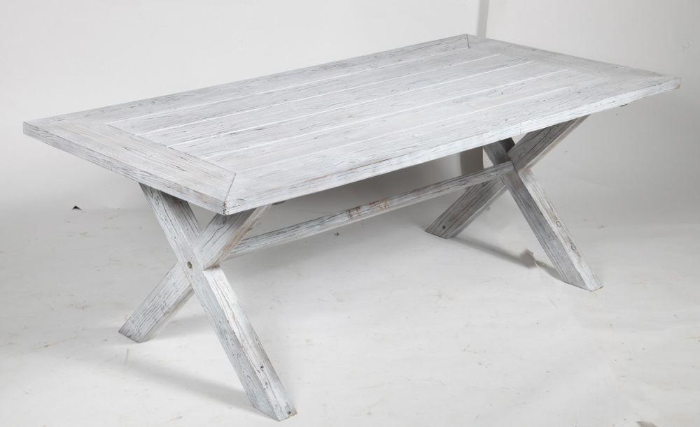 TrendLine Gartentisch Lima aus Holz, 200 x 100 x 74 cm