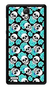 """Humor Gang Skulls And Roses Blue Printed Designer Mobile Back Cover For """"Xiaomi Redmi Note - Xiaomi Redmi Note 4G"""" (3D, Glossy, Premium Quality Snap On Case)"""