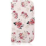 YOKIRIN Flip Cover Leder Tasche Case Schutzhülle für Samsung Galaxy S3 Mini I8190 Hülle Handy Tasche Etui Schale mit Standfunktion Kredit Kartenfächer (color-1)