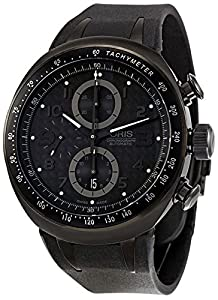 Oris TT3 Chronograph Automatic Black Ion-Plated Titanium Mens Strap Watch Calendar 674-7611-7764-RS