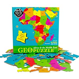 Geopuzzle Africa Puzzle