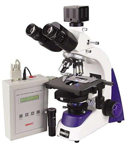 Unico G395-Led Microscope Binocular Wf10X 4, 10Pl-Ph, 40Pl-Ph, 100Pl-Ph Plan Phase Heated Stage