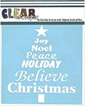 Clear Scraps Stencils 6 by 6-Inch Word Christmas Tree