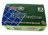 UFO brand kitchen supplies- Cellulose sponge scrubbers 3pk