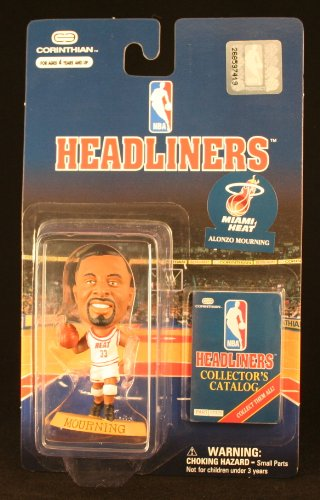 ALONZO MOURNING / MIAMI HEAT * 3 INCH * NBA Headliners Basketball Collector Figure - 1