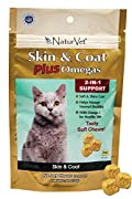 NaturVet For Cats SKIN & COAT Plus Catnip 50 Soft Chews